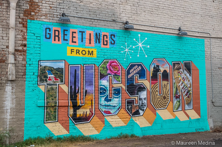 Welcome to Tucson downtown street art mural