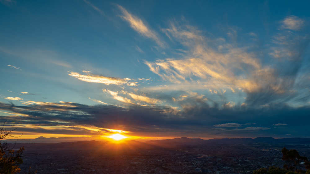 Sunset over Bogota, Colombia