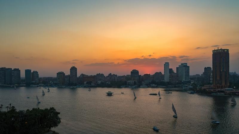 Sunset on the Nile, Cairo, Egypt