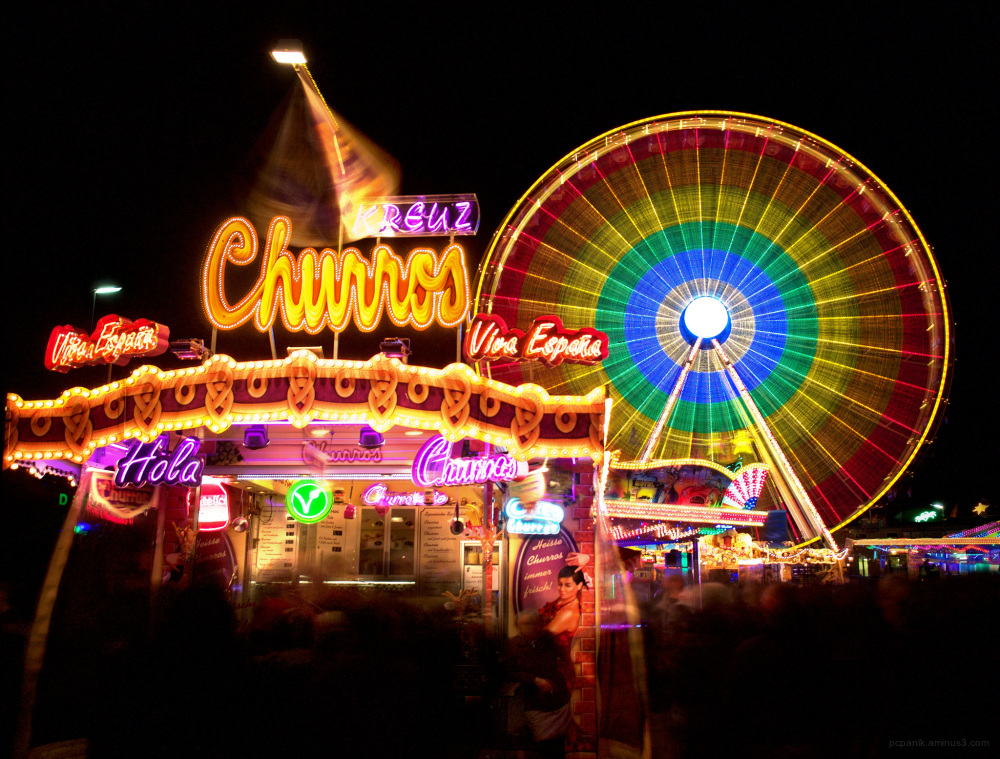 Funfair with a churros-booth