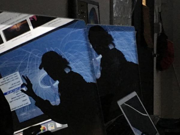 iMac reflection