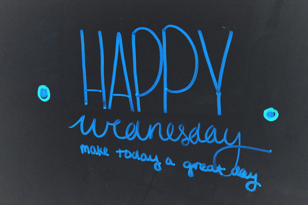 Happy Wednesday!! Goodbye.