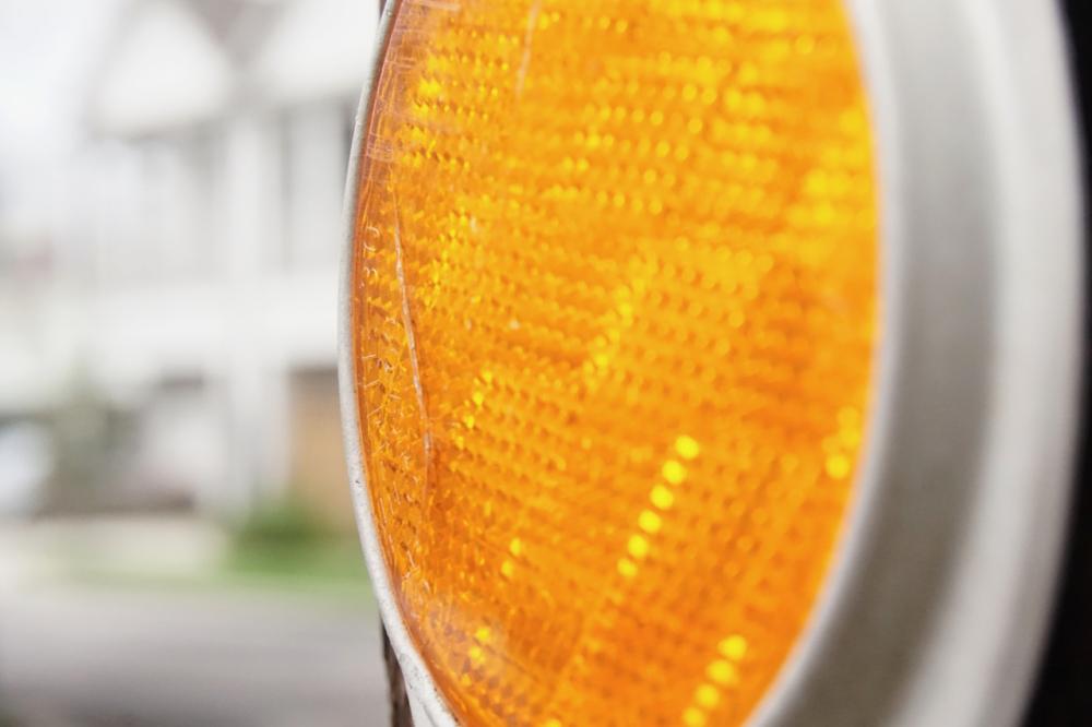 orange reflector