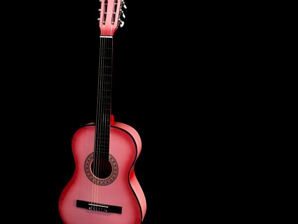 Pink Classical Guitar