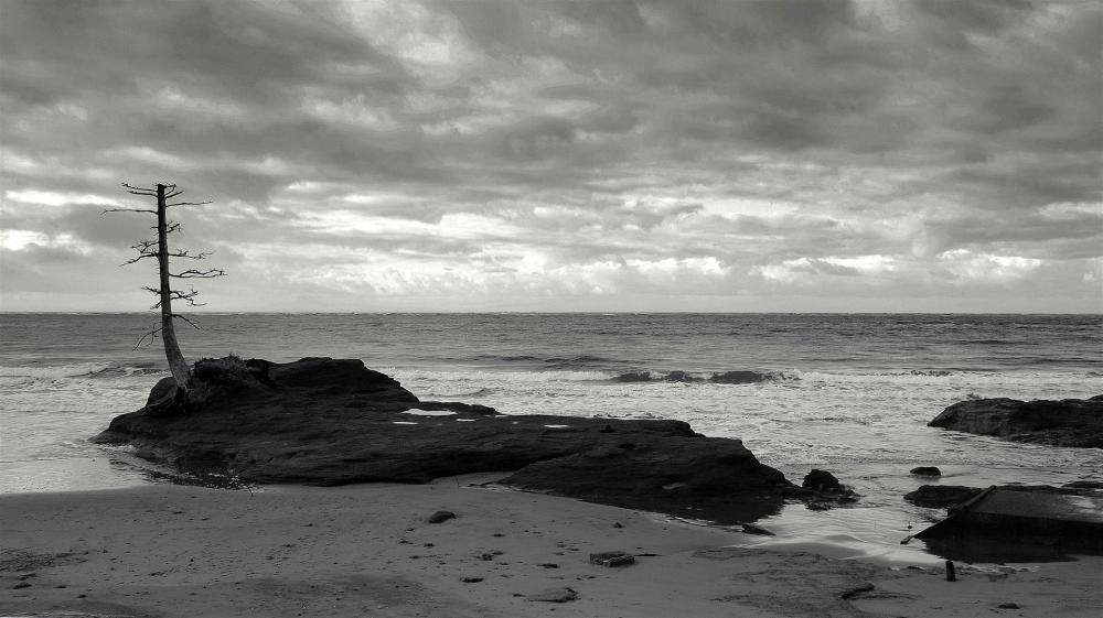 Wash away beach