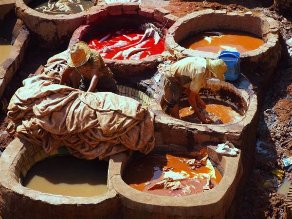 Leather Dying Vats