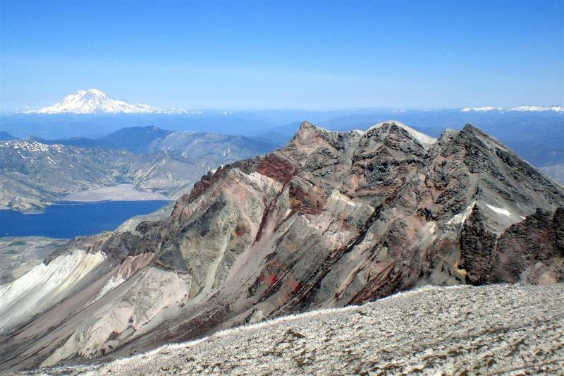The insides of Mount Saint Helens