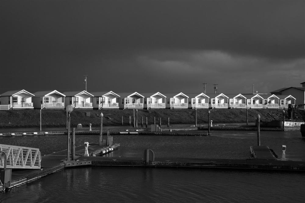 Marina cabins - brief break though of light