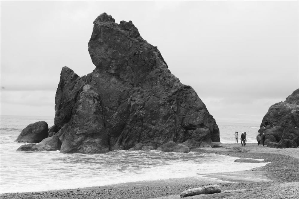 Tourist at Ruby Beach