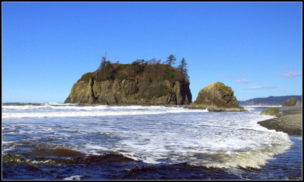 Ruby beach @ high tide