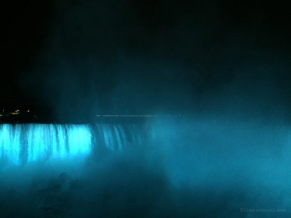Blue Niagara Falls