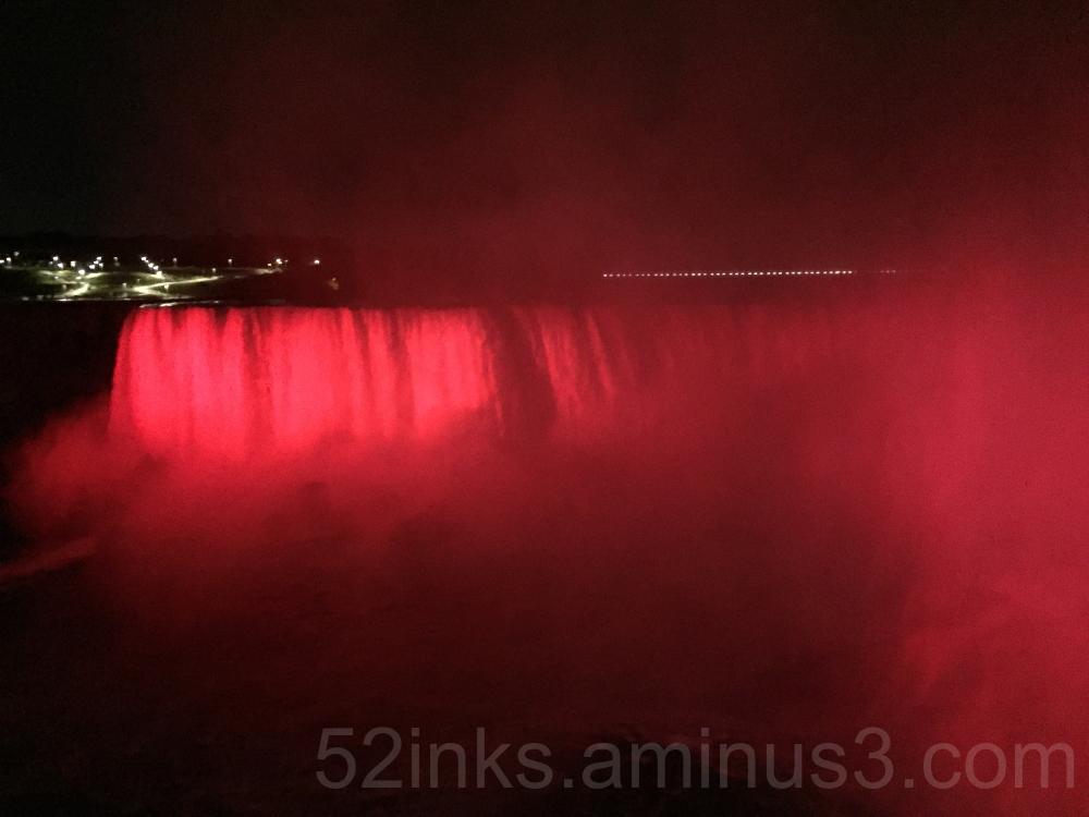 Red Niagara Falls