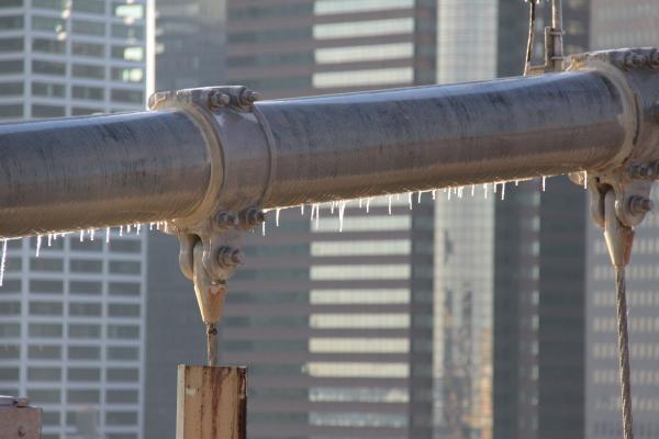 ghiaccio sul ponte di Brooklyn