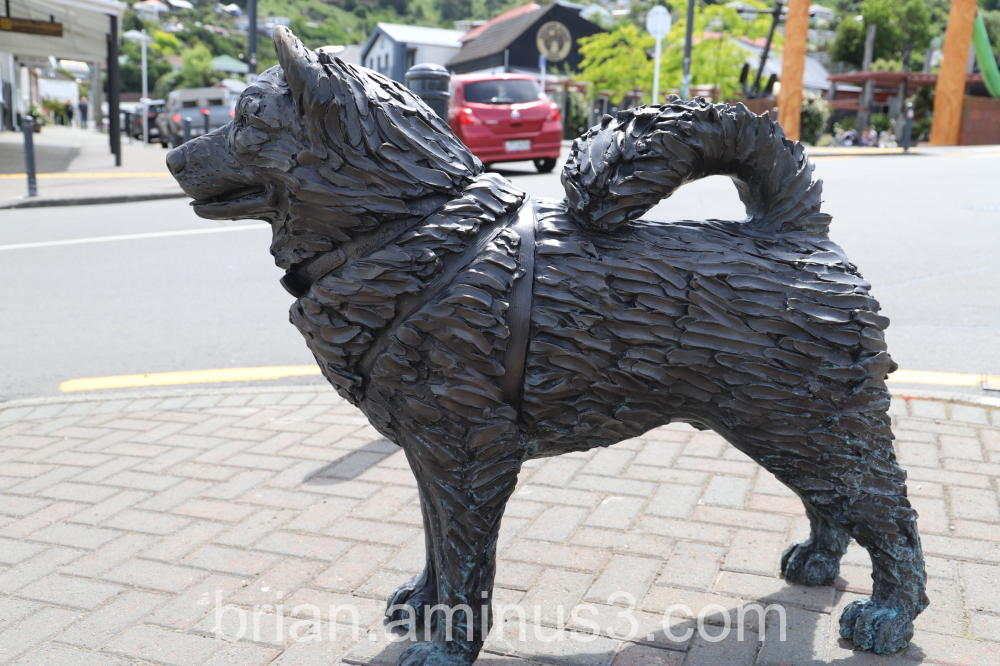 Bronze Sled Dog Lyttelton
