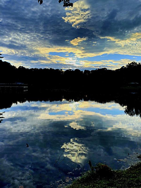 Peachtree city Sunset Lake blue