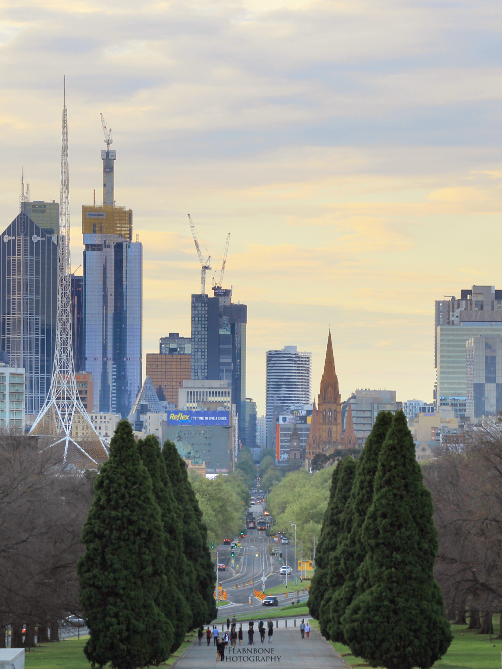 Melbourne CBD from Shrine of Rememberance