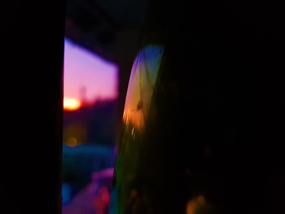 Nightfall through the window