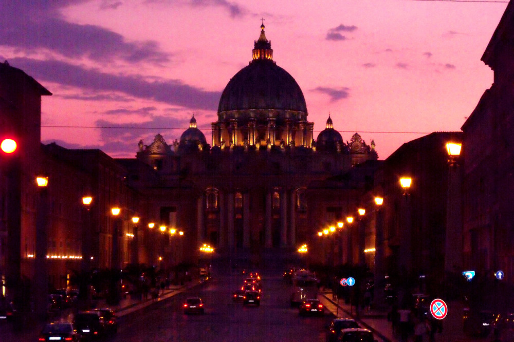 Twilight at St. Peter's Square