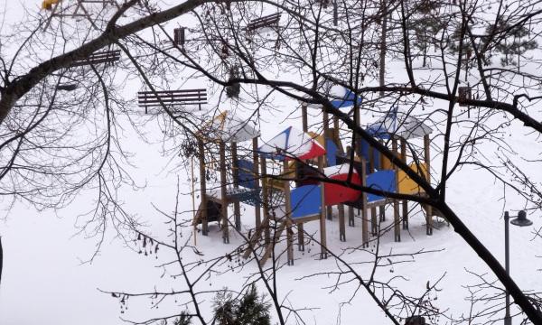 Playground In White