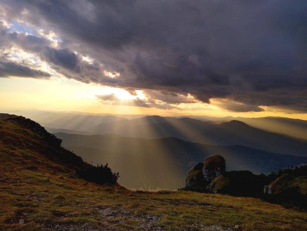 Autumn Sunset In The Mountains