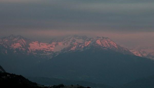 Un coucher de soleil   sur le massif