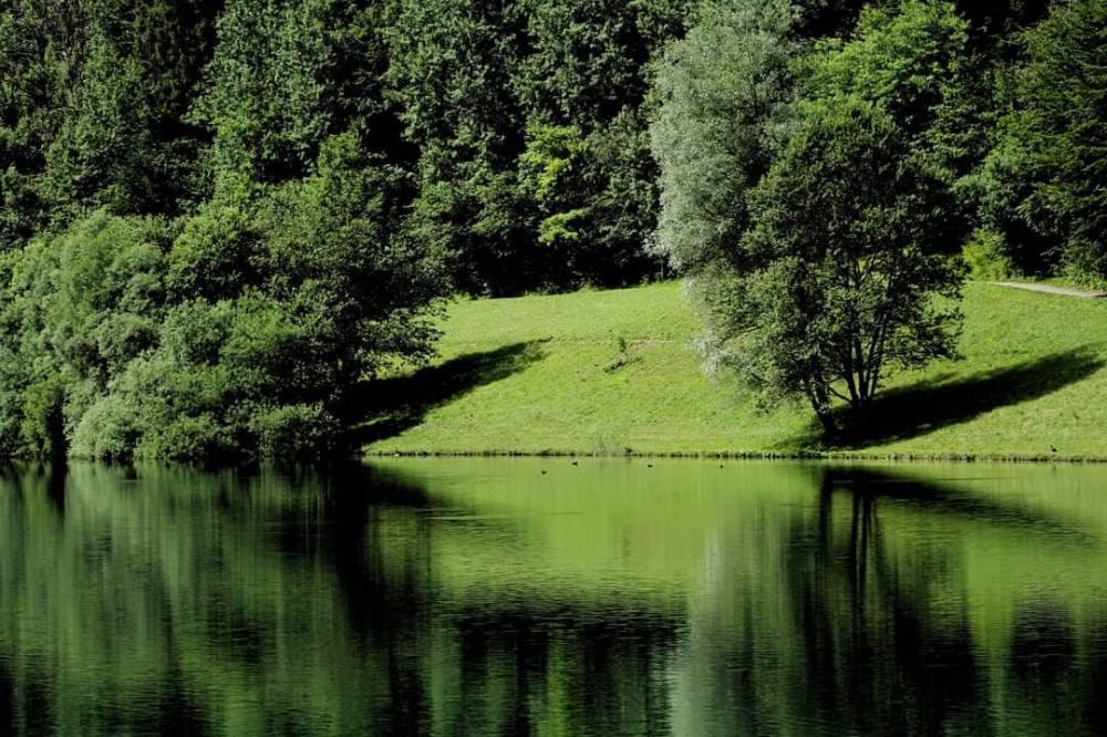 Plan d'eau à  Lescheraine