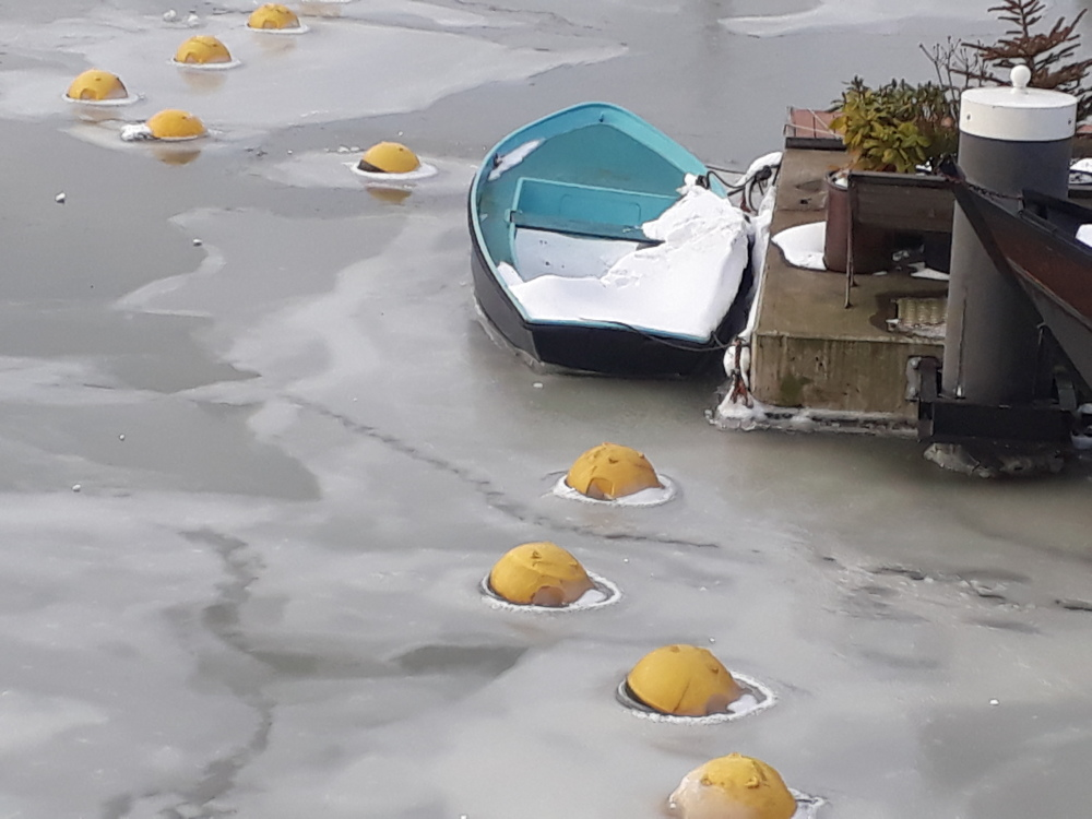 Snow, Ice and a boat
