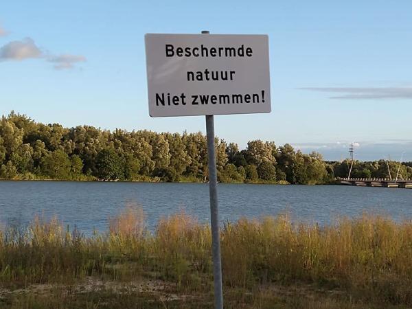 Do not swim here