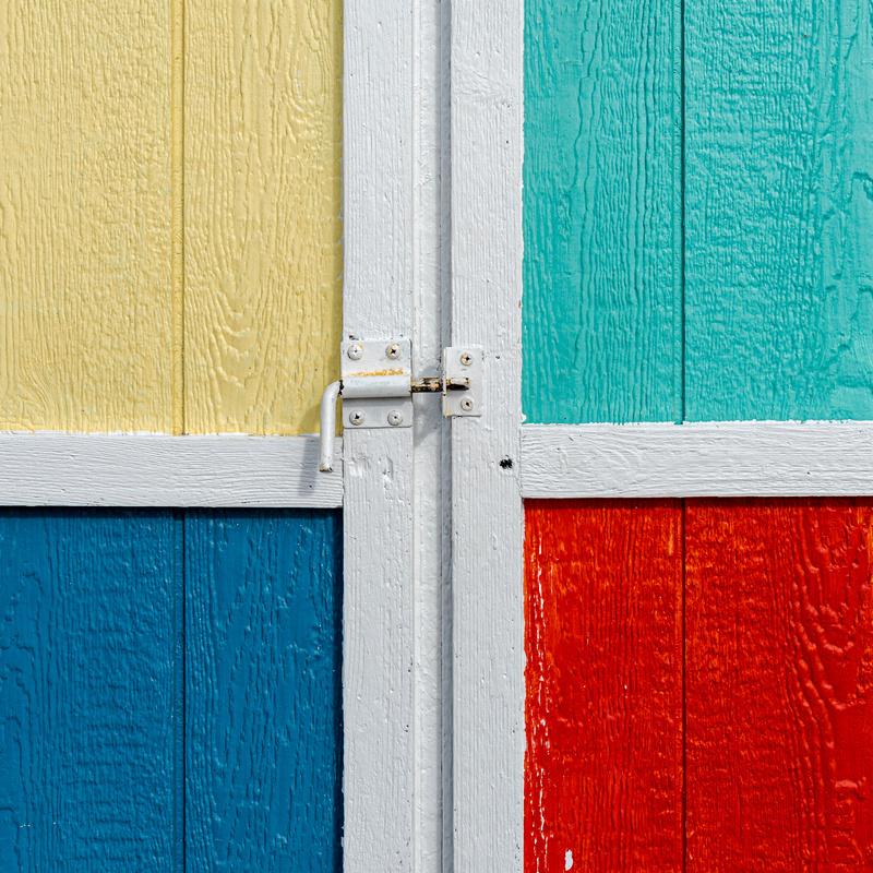Different painted door panels.