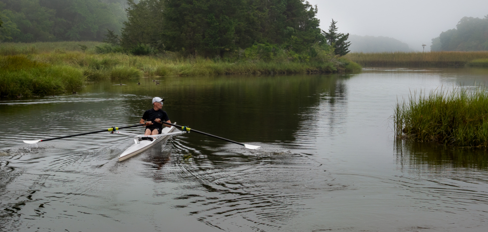 A early morning roll in a sculling boat in the cal