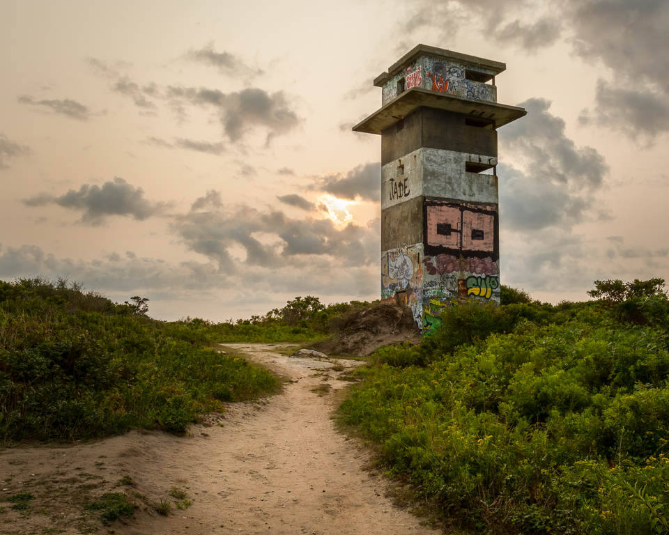 WW2 coastal fire direction observation tower.