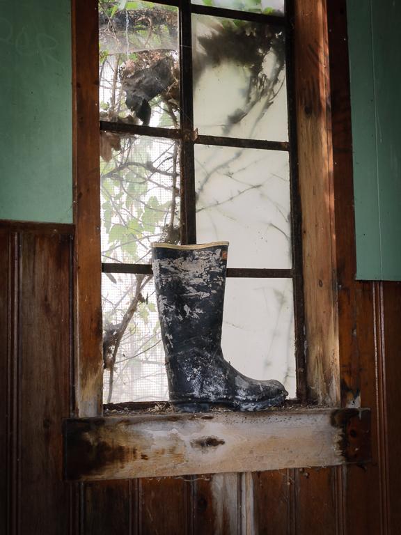 Boot On The Windowsill