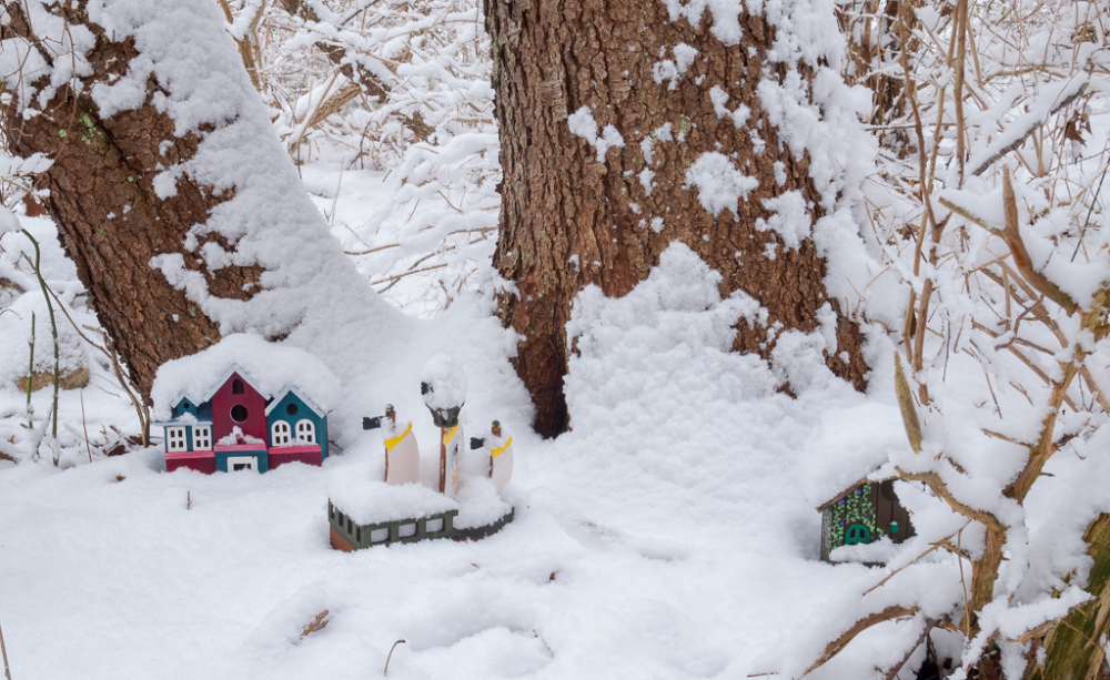 Toy Village Snowed In