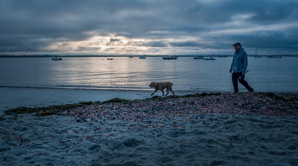 Beach Walk At Sunrise