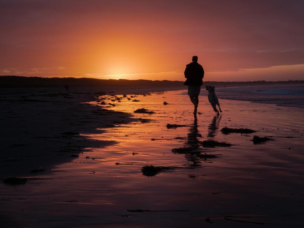 Beach Walk Before Sunrise