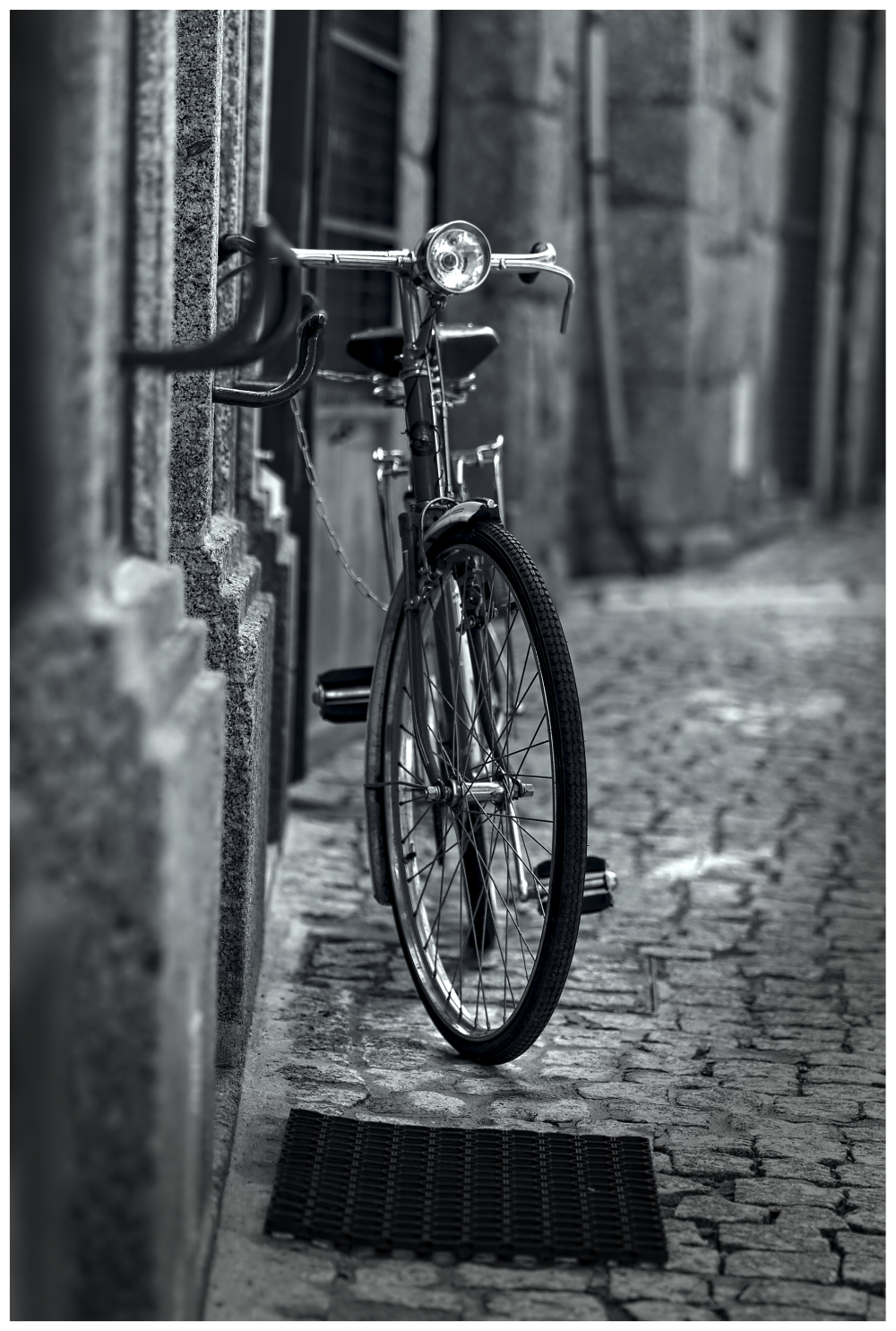 Old Bicycle black White Culture Street Photography