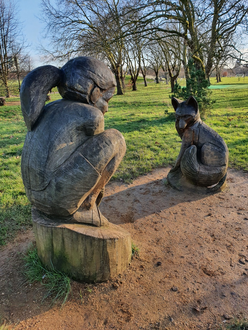 Girl and Fox sculpture in Regents Park