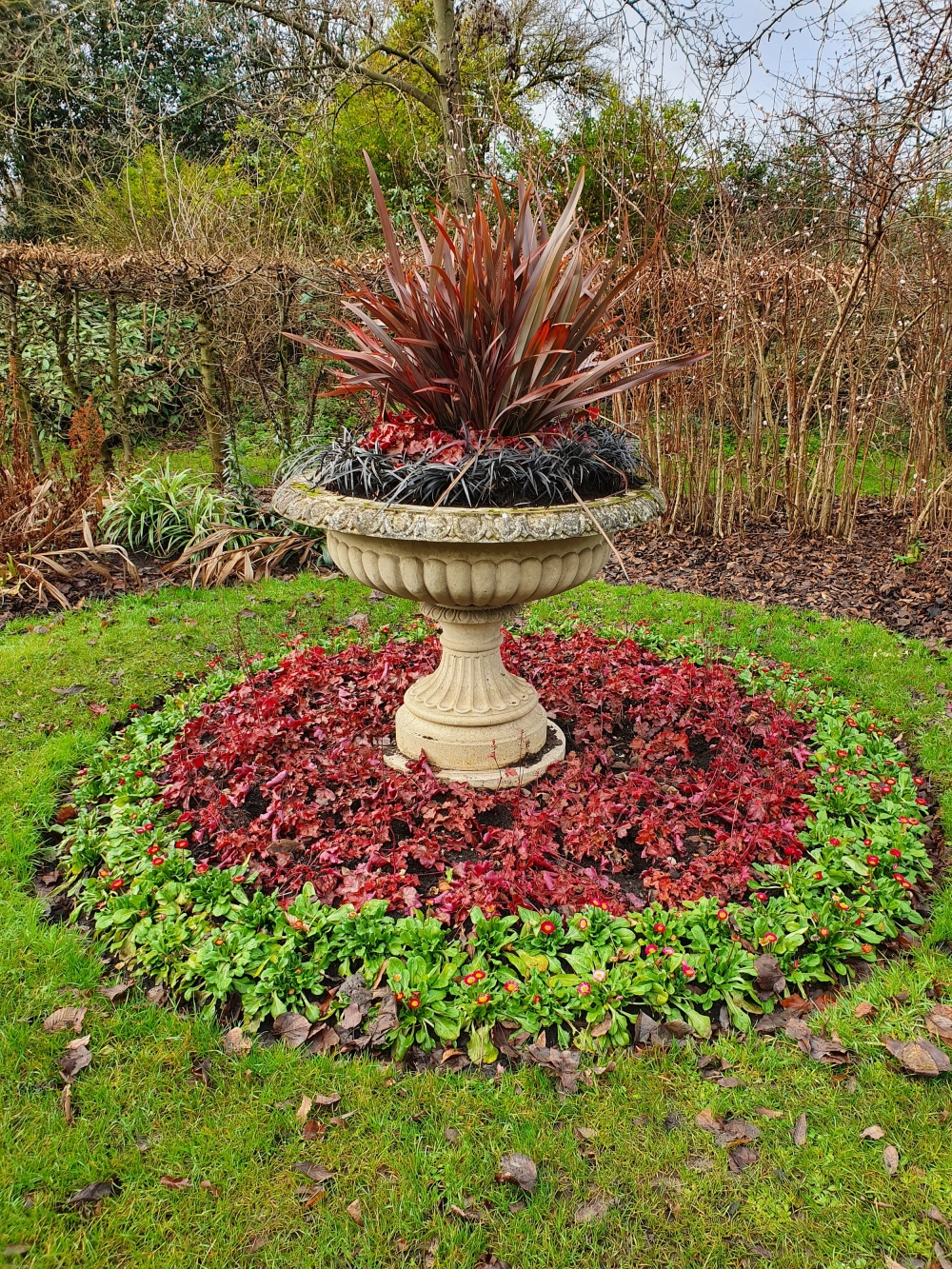 Ornamental flower pot in Regents Park