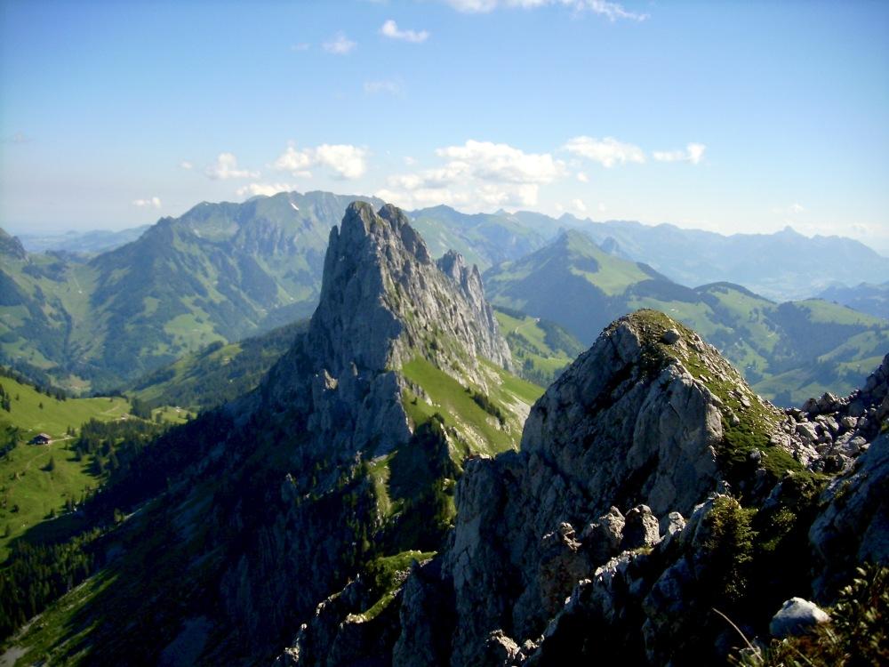 Les Gastlosen vue depuis la Wandflue 2175 m.