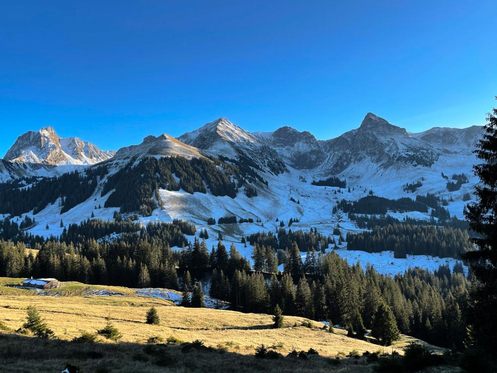 Le massif du Gantrisch , 2175 m.