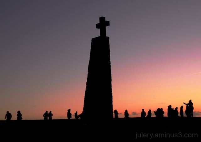 Sunset at the Cabo de Roca point