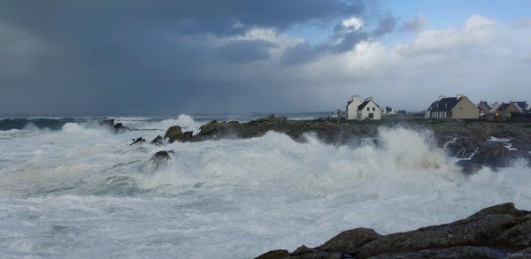 Coup de vent à St Guénolé.