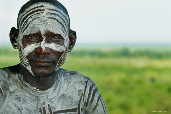 Karo man, Lower Omo River, Ethiopia