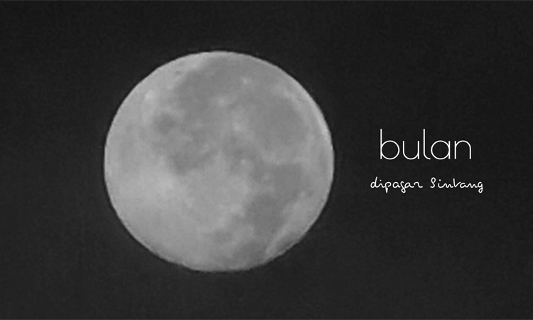 full moon this morning