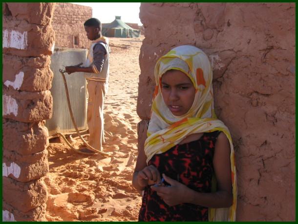 boy and girl in western sahara camps