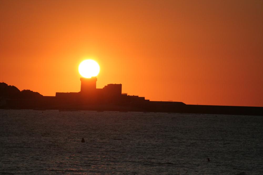 Sunset sur le fort de Socoa