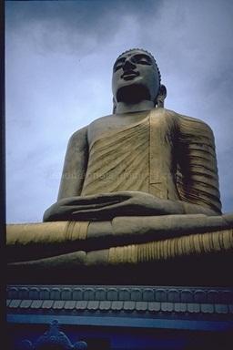 Buddah statue in Kandy, 1993