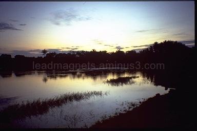 Sun rise in Yala National Park, 1993