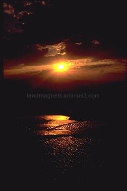 Sun down in Pamukkale, Turkey, 1990