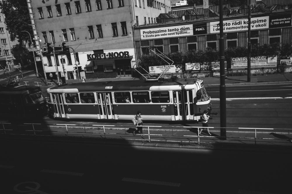 Tram in Vršovice, Prague
